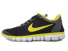 official photos 8fd34 37b5c Nike Free 3.0 V2 Mens Original running Black lemon White Yellow 354574 071 Nike  Free 3.0