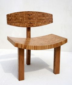 Three Legged Bamboo Chair by Brett Dearing    The chair is essentially composed of only four unique pieces, and is geometrically simple. Joinery is kept as minimal as possible to allow this geometry to be the driving force of the overall design.
