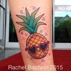 Rachel Baldwin pineapple tattoo