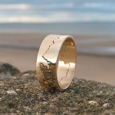 Personalised Gold Coastline Ring from notonthehighstreet.com