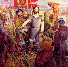 """Dmitry Donskoy"" by U. Raksha(1937-1980) Popular Paintings, Prince And Princess, Russian Art, Ukraine, Fairy Tales, Medieval, History, Knights, Moscow"