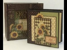 How to Make a quick and easy 5 x 5 Mini Album French Country Graphic 45 - YouTube