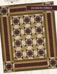 Jackson Street Quilt Pattern. Pattern includes instructions for 3 sizes. Six Pack Series. The Six Pack Series was developed to be able to create any of the quilts in the series using only SIX fabrics. http://www.kayewood.com/item/Jackson_Street_Quilt_Pattern/2705/m108 $9.00