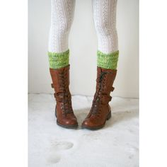 Apple Green Knit Boot Cuffs Leg Warmers Boot Toppers Boot Socks Gift... (1,410 PHP) ❤ liked on Polyvore featuring intimates, hosiery, athletic socks, grey, women's clothing, gray leg warmers, green leg warmers, christmas hosiery, green hosiery and knit leg warmers