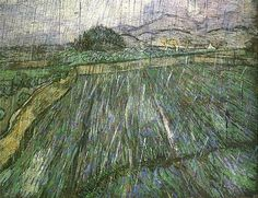 Wheat Field in Rain - Vincent van Gogh