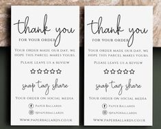 Thank You Customers, Thank You For Order, Thank You Notes, Small Business Cards, Business Thank You Cards, Thank You Card Design, Printable Thank You Cards, Thanks Card, Creative Gift Wrapping