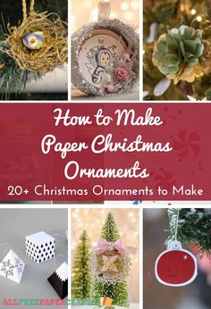 How to Make Paper Christmas Ornaments 20 DIY Christmas Ornaments to Make Homemade Christmas Decorations, Homemade Christmas Cards, Christmas Cards To Make, Diy Christmas Tree, Christmas Crafts For Kids, Country Christmas, Homemade Cards, Holiday Crafts, Merry Christmas