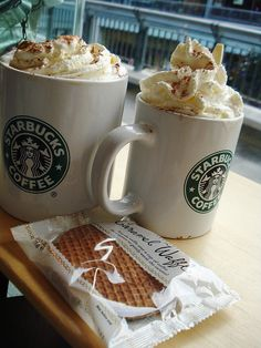 Wow...Starbucks and a waffle...what else do you want in life!!!!:D