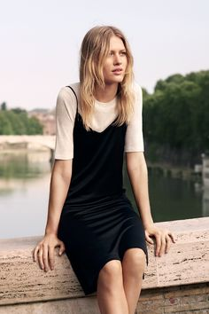 Feminine flair and tomboy attitude combine to create an effortless, modern look. | H&M Summer, I love this outfit!!