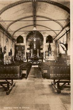 Interieur van de kerk van Ommel in de dertiger jaren