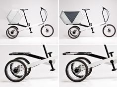 Vienna bike.  electrically assisted tricycle, folding into smaller size for portability.
