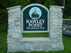 Rawley Point Recreational Trail. We designed and created the sign. The bike trail runs for 6 miles, along the scenic shore of Lake Michigan, connecting Manitowoc and Two Rivers in Wisconsin.