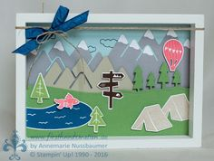 Welcome to your Stampin 'UP! Demonstrator in the Rhein-Neckar-Dreiec ., Welcome to your Stampin 'UP! Demonstrator in the Rhein-Neckar-Dreiec . Camping Cards, Birthday Cards, Happy Birthday, Diy And Crafts, Paper Crafts, Projects To Try, Art Projects, Stampin Up Catalog, Stamping Up