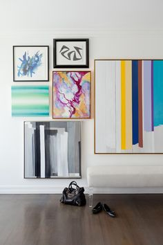 An Abstract, Colorful Gallery Wall.