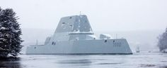 The future guided-missile destroyer USS Zumwalt (DDG returned from Atlantic Ocean on Thursday after completing its second round of sea trials off the coast of Maine. These photos, taken by&nb… Uss Zumwalt, Us Navy Ships, Power Boats, Submarines, Luxury Yachts, Atlantic Ocean, Battleship, Trials, Sailing Ships