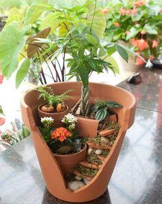 Des Pots Cassés Qui Deviennent De Magnifiques Jardins Miniatures… À Essayer, C'Est Facile ! »