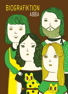 Ana Albero's illustration of ABBA may have me re-evaluating my distaste for the band.