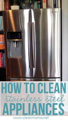 No crazy cleaners or fancy methods, just this simple method & household ingredients to clean your stainless appliances with Clean Mama