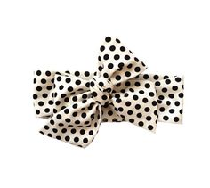Headwrap Baby Toddler Girl Adult Head Wrap - SHORT - White and Black Polka Dot