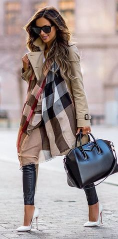 #spring #outfits woman wearing gray coat. Pic by @styleillustration.best