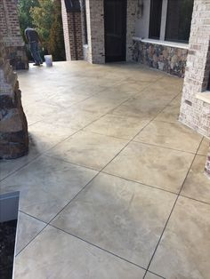 Stamped Patio W 2 Sets Of Landings Steps W Matching
