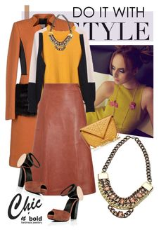 """""""Do it with Style - Chic n'Bold necklace"""" by tanjico ❤ liked on Polyvore featuring mode, Class Roberto Cavalli, Vanessa Bruno, Pierre Hardy, Roland Mouret, necklace, outfitidea et chicnbold"""
