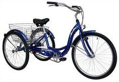 """26"""" Schwinn Meridian Adult Tricycle BLUE Trike Ride Bicycle 3 Wheel Bike Rims  #Schwinn"""