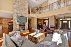 What a charming living room! Carrie Underwood and Mike Fisher have listed their 11-acre, five-bedroom, five-bathroom Canadian estate. For more information and photos, visit the website of real estate agent Paul Rushforth. Visit GACTV.com for the full gallery.