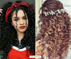 penteados, penteados para cabelos cacheados, cabelo cacheado, cabelo cacheado curto, penteados para festa, penteados para cabelos curtos, penteado cabelo cacheado, penteados faceis, penteado de cabelo, penteados para madrinhas, penteados simples, penteados para cabelos, penteados para madrinhas de casamento, penteados para formatura, penteados para noivas, penteado cabelo curto, penteado cabelo medio, penteados para casamento, penteados bonitos, penteados com cabelo cacheado, penteados para… Cute Curly Hairstyles, Curly Hair Styles, Simple Dresses, Hair Hacks, Bridal Hair, My Hair, Afro, Curls, Dreadlocks