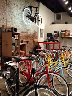 Bobbin Bicycles at Houndstooth Road -we ought to check out Houndstooth Road in Decatur