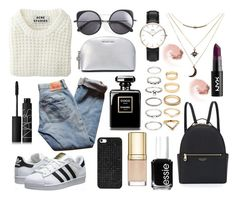 """""""♥♠♥♠♥"""" by patricia-manso ❤ liked on Polyvore featuring Levi's, Wood Wood, NARS Cosmetics, Essie, Acne Studios, Henri Bendel, BaubleBar, Dolce&Gabbana, Forever 21 and adidas Originals"""
