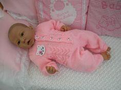 Strickanleitung für Baby's u. Baby Set, Baby Overall, Crochet Tunic, Dinosaur Stuffed Animal, Onesies, Reborn Babies, Animals, Clothes, Kit