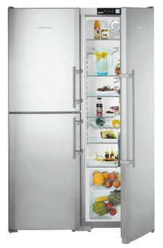 A stylish super-sized Liebherr side by side fridge, featuring BioFresh storage. Free metro delivery, connection and removal available at Appliances Online. Big Fridge, Top Freezer Refrigerator, French Door Refrigerator, Door Storage, Tall Cabinet Storage, Locker Storage, Laundry In Bathroom, Bathroom Medicine Cabinet, Freestanding Fridge