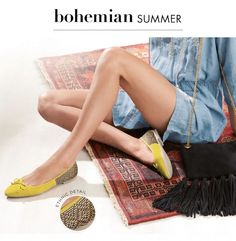 Go for a bohemian summer with a pop of ethnic detail through your footwear!