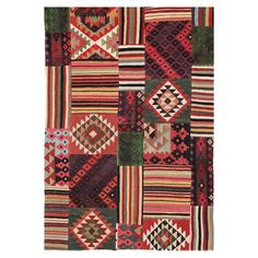 "I pinned this Tarana 7'5"" x 5'2"" Kilim Patchwork Rug from the Loominary event at Joss and Main!"
