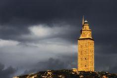 Torre de Hércules en La Coruña.