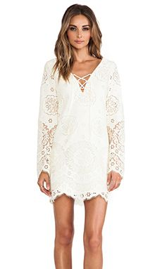 Shop for Twelfth Street By Cynthia Vincent Lace Up Bell Sleeve Dress in Cream at REVOLVE. Free 2-3 day shipping and returns, 30 day price match guarantee.