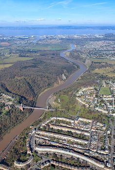 Neil Edbrooke - Over Bristol, the view down the Avon River to docks at Avonmouth, Portbury, the River Severn and the sea. http://www.shipwreckedmariners.org.uk/Home/Events/PhotographyCompetition2013.aspx