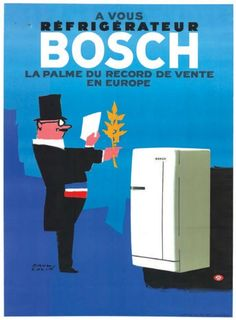 réfrigérateur Bosch - La palme du record de vente en Europe - illustration de Paul Colin -