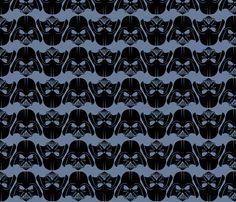 Darth Vader fabric by ninjaauntsdesigns on Spoonflower - custom fabric