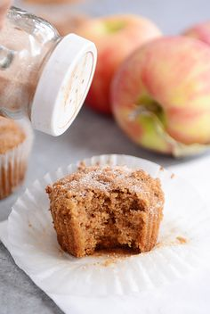 Cinnamon & Sugar Dusted Whole Grain Applesauce Muffins | Mel's Kitchen Cafe