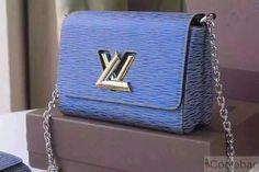Louis Vuitton Wathet Blue Medium Epi Denim Twist MM Bag - Spring 2015