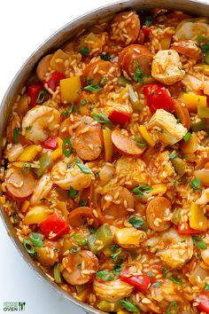 Jambalaya Recipe    gimmesomeoven.com  (given to me from Brandy C on fb...2014) (suppose to be delicious!)...I personally made this recipe and give it a 3 star out of 5 star..not enough flavor.
