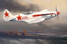 Mig-3 A Russian Mig-3 downs a Dornier 17 over this grim Winter landscape on the…