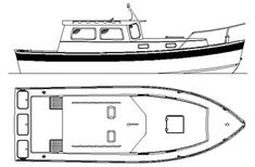 Down East Cruiser 25 Long Cabin Version - Study Plans