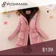 All sizes will be $130 Dusty Pink Velvet with Fur COMING SOON Reserve Yours Today Dusty Pink Velvet Parka with Fur! Perfect for fall winter like to save ! Asked to be tagged Pretty In Love Jackets & Coats