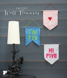 Easy Felt Wall Banners by Pysselbolaget