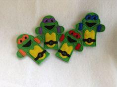 Teenage mutant ninja turtle TMNT finger puppets