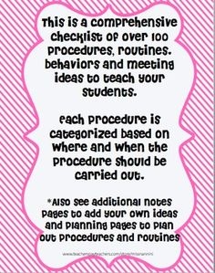 Classroom Procedures to Teach for EVERY SINGLE GRADE! From kindergarten to high school. This list is phenomenal, this will make my beginning of the year stress free.