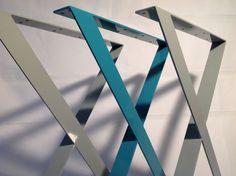 Modern Metal Dining Table Legs , X-frame Flat Steel Table Legs, Wide, Height To Steel Table Legs, Steel Dining Table, Dining Table Legs, Modern Dining Table, Table Bases, Tables, Leg Art, Etsy, Boat Plans